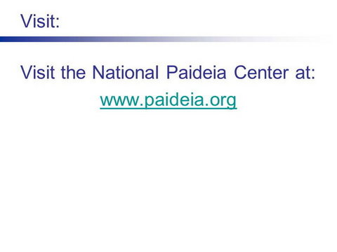 the power of paideia schools roberts terry the staff of the national paideia center