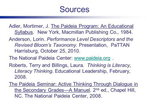 The Paideia Socratic Seminar A Strategy For Increasing