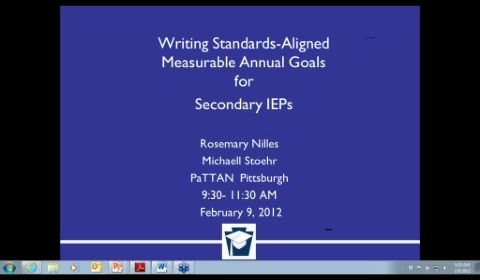 Writing Standards-Aligned Measurable Annual Goals for Secondary IEPs