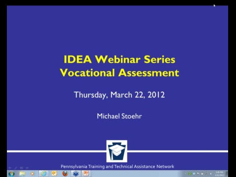 IDEA Webinar Series - Vocational Assessment
