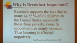 Why is breakfast important?
